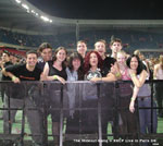 Rockinfreakpotami & Hideout Staff & customers in the front pit at Parc des Princes, Paris for the Red hot Chili Peppers Concert 2004